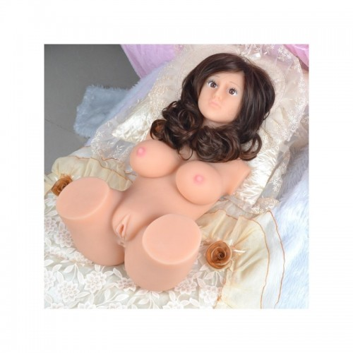 3D Realistic Solid Full Silicone Sex Doll With Long Wig For Men